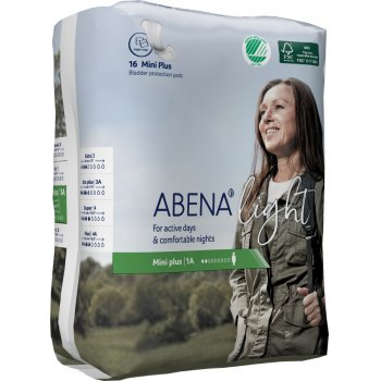 Abena Light Incontinence Pads - Mini Plus - Pack of 16