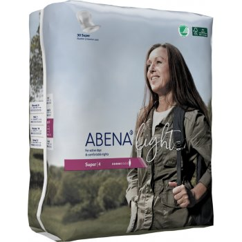 Abena Light Incontinence Pads - Super - Pack of 30