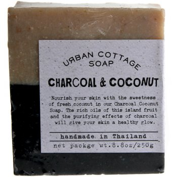 Handmade Charcoal & Coconut Exfoliating Cake Soap  - 250g
