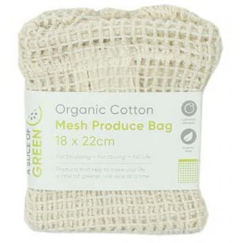 A Slice of Green Organic Cotton Mesh Produce Bag - Small