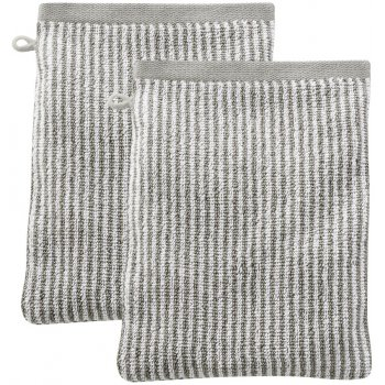 Barcelona Organic Cotton Wash Glove - Cashmere Stripe - Pack of 2