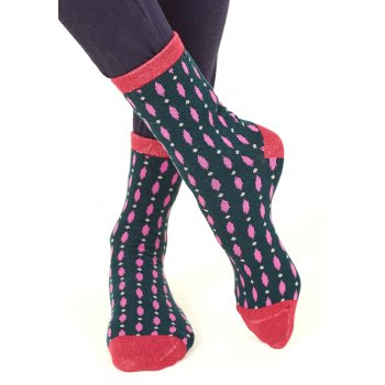 Nomads Womens Organic Cotton Ellipse Socks - Ink