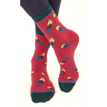 Nomads Womens Organic Cotton Feather Socks - Damask