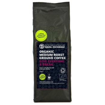 Equal Exchange Organic Medium Roast Ground Coffee - 1kg