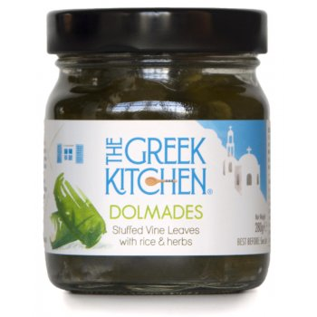 The Greek Kitchen Dolmades Stuffed Vine Leaves with Rice & Herbs - 280g