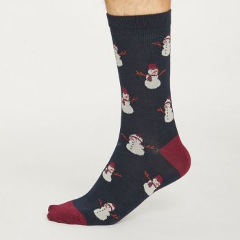 Thought Mens Snowmen Bamboo Socks
