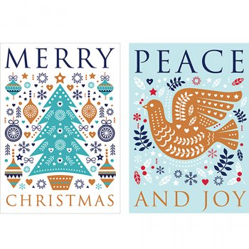 Help for Heroes Peace & Joy Christmas Cards - Pack of 10