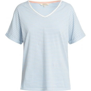 People Tree Blue Stripe Short Sleeve Pyjama Top