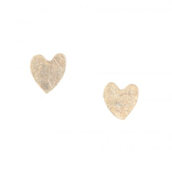 People Tree Silver Heart Stud Earrings