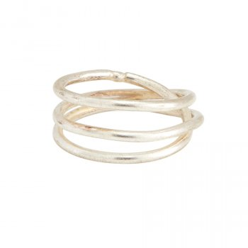 People Tree Silver Coil Ring