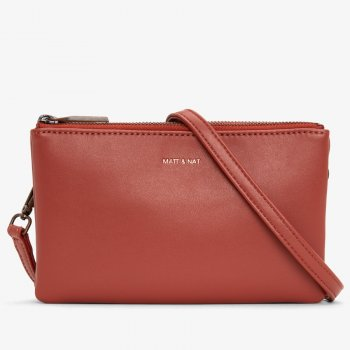 Matt & Nat Triplet Vegan Crossbody Bag- Desert