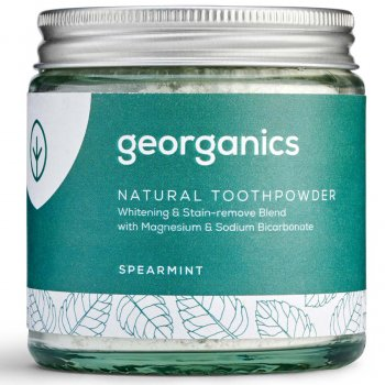 Georganics Natural Toothpowder - Spearmint - 120ml