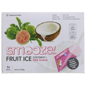 Smooze Pink Guava & Coconut Fruit Ice - Pack of 5