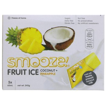 Smooze Pineapple & Coconut Fruit Ice - Pack of 5