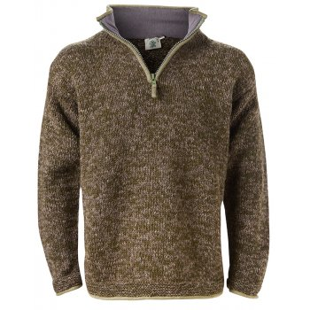 Mens Donegal Half Zip Jacket - Moss & Bark