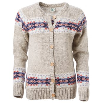 Womens Inishmore Cardigan - Dove Grey