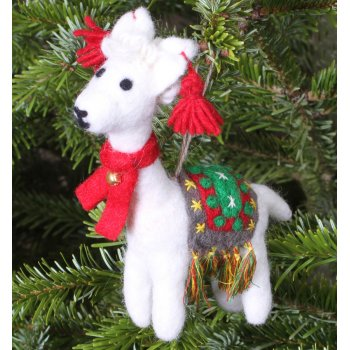 Hanging Christmas Decoration - Linda the Llama