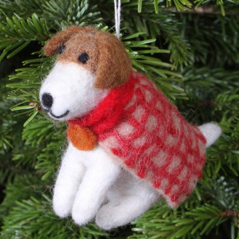 Hanging Christmas Decoration - Geoffrey the Airedale