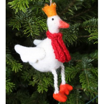 Hanging Christmas Decoration - Golden Goose