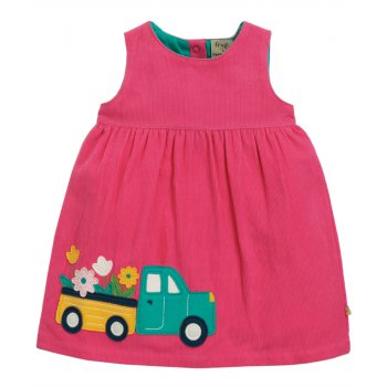 Frugi Flower Truck Lily Cord Dress
