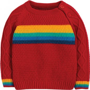 Frugi Rainbow Caleb Cable Knit Jumper