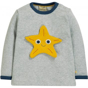 Frugi Sea Friends Button Off Applique Top