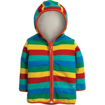 Frugi Rainbow Stripe Snuggle Jacket
