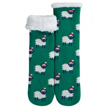 Frugi Festive Sheep Cosy Up Socks