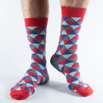 Doris & Dude Green Triangle Bamboo Socks