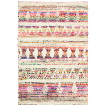 White Multi Wool & Recycled Threads Rug - 120 x 180cm