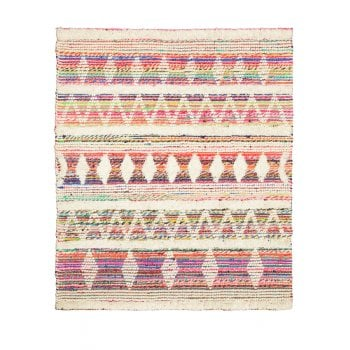White Multi Wool & Recycled Threads Rug - 160 x 230cm