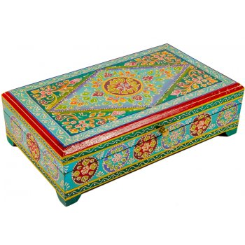 Large Handpainted Wooden Box