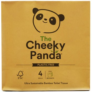 The Cheeky Panda Plastic Free Bamboo Toilet Tissue - 4 Rolls