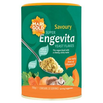 Engevita Super Yeast Flakes with Vitamin D and B12 - 100g