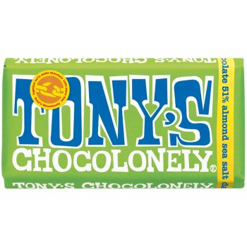 Tonys Chocolonely Dark Chocolate with Almonds and Sea Salt - 180g