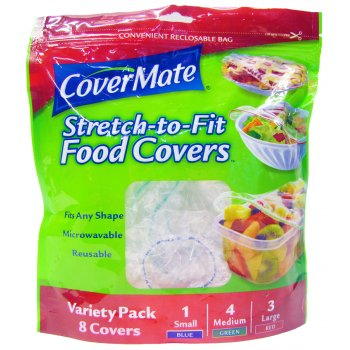 Covermate Stretch to Fit Reusable Food Covers - Pack of 8