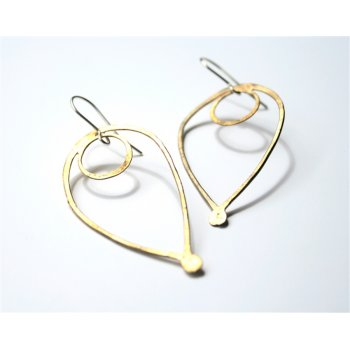 LA Jewellery Bloom Recycled Brass Earrings