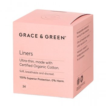 Grace & Green Organic Cotton Panty Liners - Pack of 24