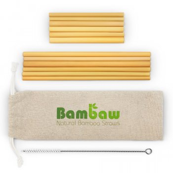 Bambaw Bamboo Straws - 14cm & 22cm - Pack of 12