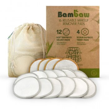 Bambaw Reusable Bamboo Makeup Remover Pads - Pack of 16