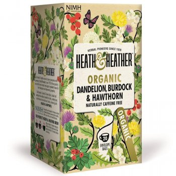 Heath & Heather Organic Dandelion, Burdock & Hawthorn Tea - 20 Bags