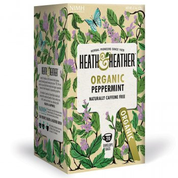 Heath & Heather Organic Peppermint Tea - 20 Bags