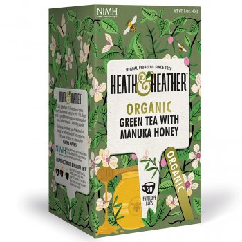 Heath & Heather Organic Green Tea & Manuka Honey - 20 Bags