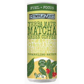 Bumblezest Fuel & Focus Yerba Mate, Matcha & Green Coffee Bean Sparkling Water - 250ml