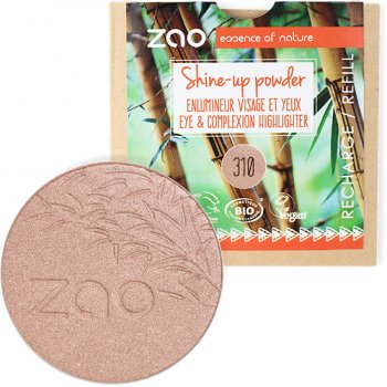 Zao Shine Up Powder Refill - Pink Champagne - 9g