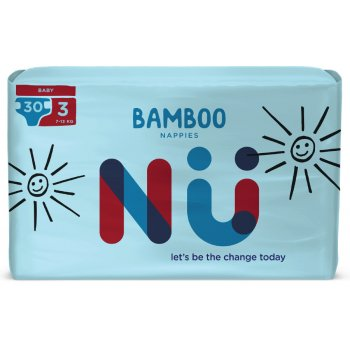 NÜ Disposable Bamboo Nappies - Baby - Size 3 - Pack of 30