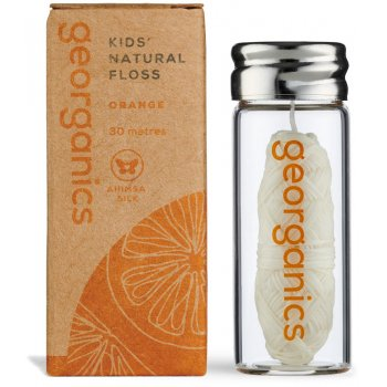 Georganics Natural Silk Kids Dental Floss - Orange - 30ml