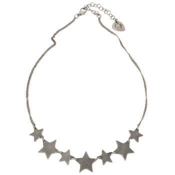 Silver Coloured Star Necklace
