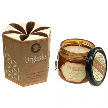 Organic Scented Soy Candle - Jasmine
