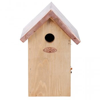 Blue Tit Bird Box with Copper Roof